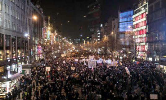 Czech Rep protestors