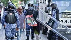 Maldives arrest protestors