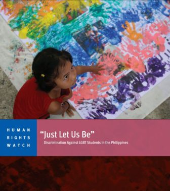 'Just Let Us Be' Discrimination Against LGBT Students in the Philippines