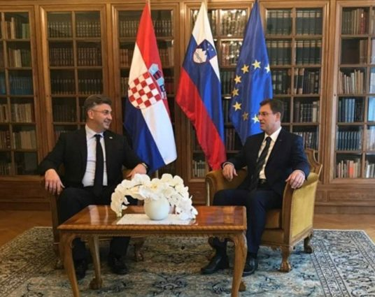 Slovenia-Croatia - Leaders