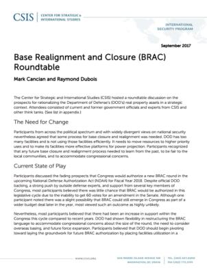 CSIS - Base Realignment