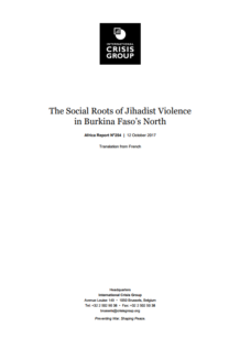 ICG - The Social Roots of Jihadist Violence in Burkina Faso's North
