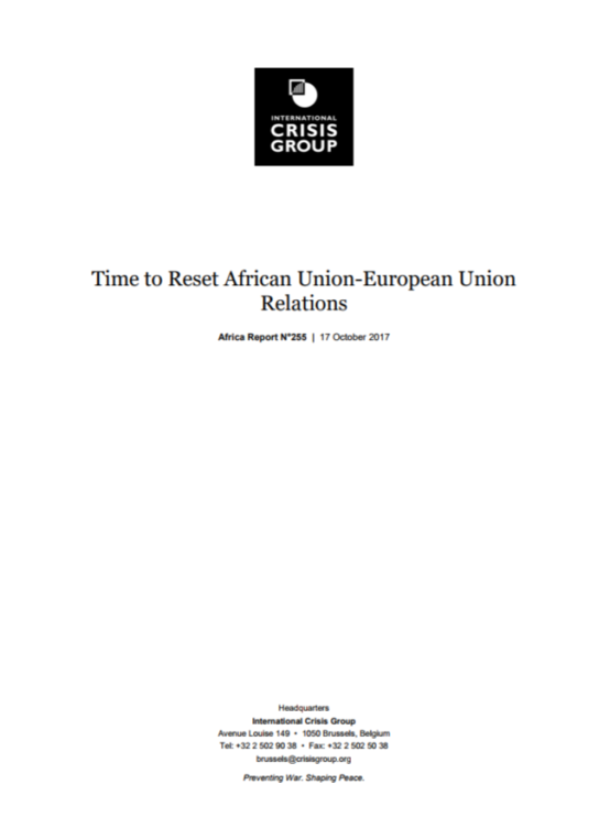 ICG - Time to Reset African Union-European Union Relations