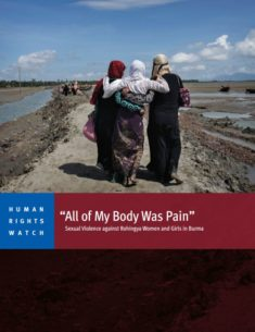 HRW - Sexual Violence against Rohingya Women and Girls in Burma