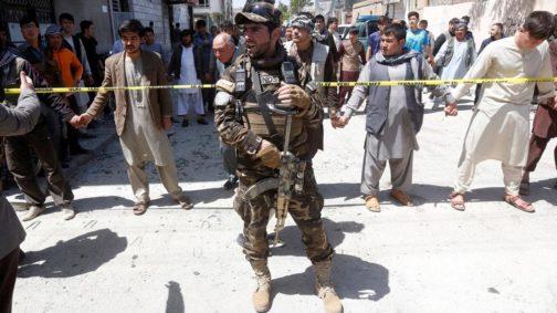 AFGHANISTAN Kabul voter registration center bombed
