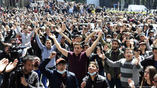 """ARMENIA Opposition calling a """"velvet revolution"""" after ex-president elected prime minister"""