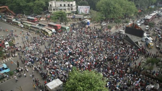 BANGLADESH Protests against job quota system