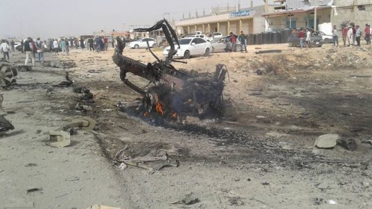 LIBYA Eastern Libyan military chief of staff survives car bomb attack